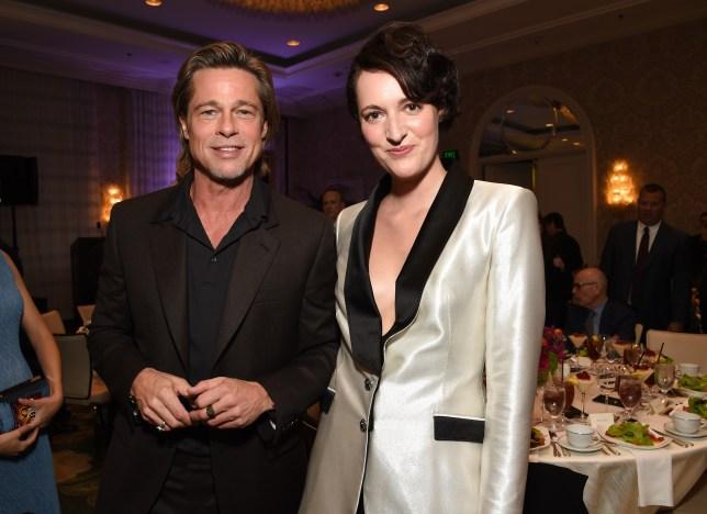 Brad Pitt and Phoebe Waller-Bridge.