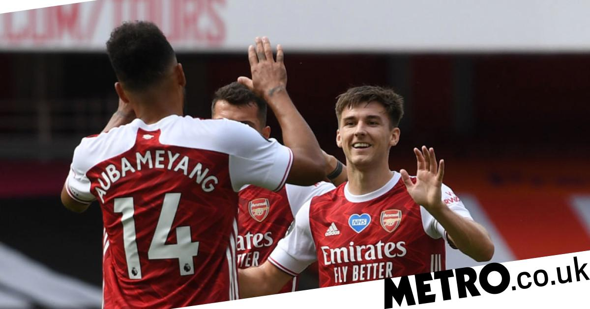 Mikel Arteta rates Pierre-Emerick Aubameyang and Kieran Tierney's chances of facing Man Utd after missing Southampton win