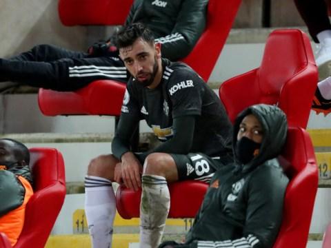 Solskjaer explains why he subbed off Bruno Fernandes after tantrum in Man Utd draw