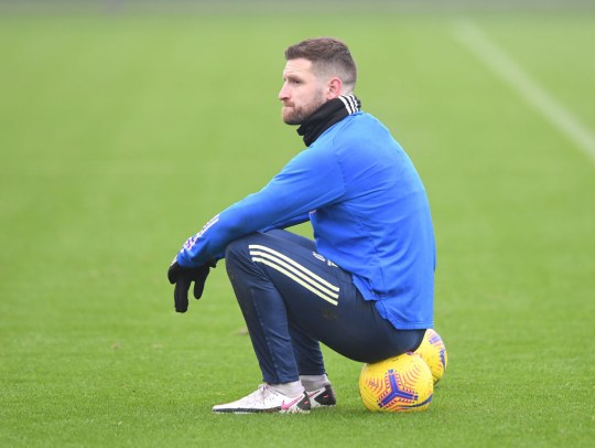Shkodran Mustafi of Arsenal during a training session at London Colney on January 01, 2021 in St Albans, England.