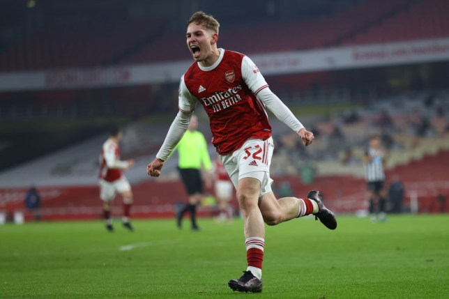 Smith Rowe has been in red-hot form for the Gunners