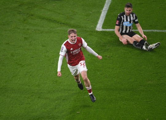 Emile Smith Rowe Arsenal v Newcastle United - FA Cup Third Round