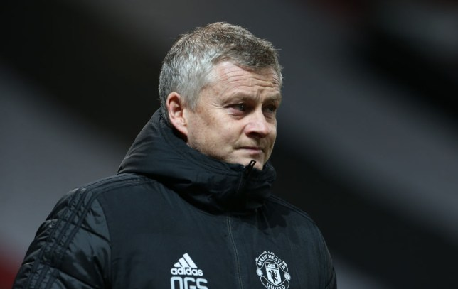 Ole Gunnar Solskjaer looks on during Manchester United's FA Cup win over Watford