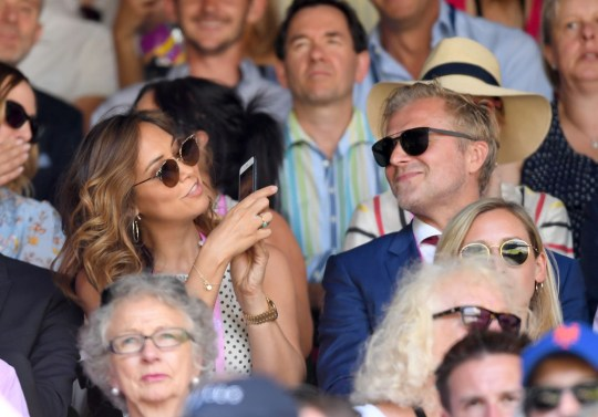 Myleene Klass and Simon Motson at Wimbledon in 2018