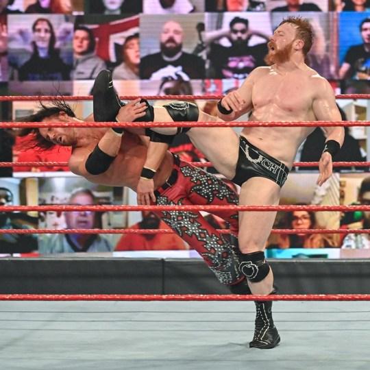 WWE superstars John Morrison and Sheamus on Raw