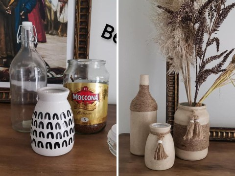Upcycle jars into stunning vases with this woman's DIY hack