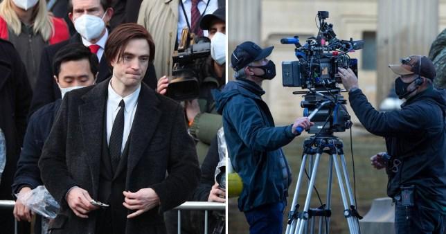 Robert Pattinson filming The Batman in Liverpool