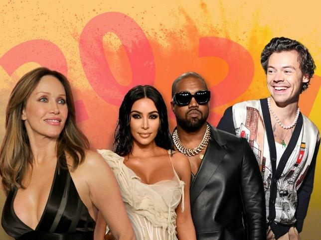 Tanya Roberts, Kim Kardashian and Kanye West, and Harry Styles.