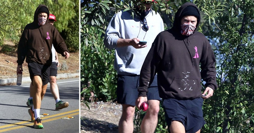 Harry Styles hiking in Los Angeles