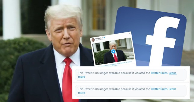 Trump's Facebook and twitter accounts blocked.