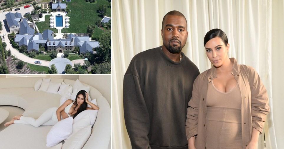 Kim Kardashian, husband Kanye West, and their Calabasas house