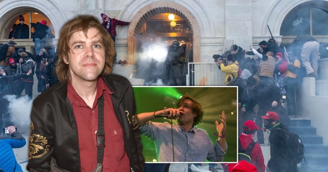 Ariel Pink and John Maus at Capitol protest