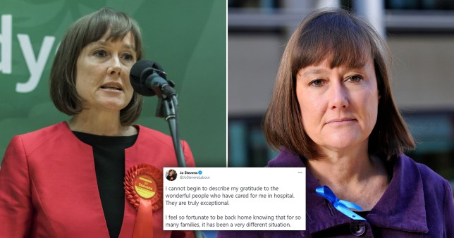Jo Stevens, Labour MP for Cardiff Central, said she 'couldn't begin to describe her gratitude' after she survived the virus