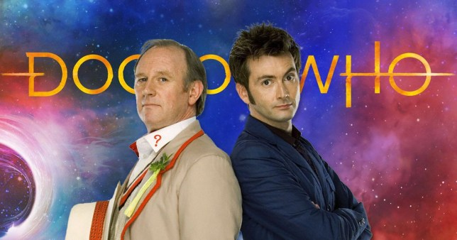 Peter Davison and David Tennant in Doctor Who