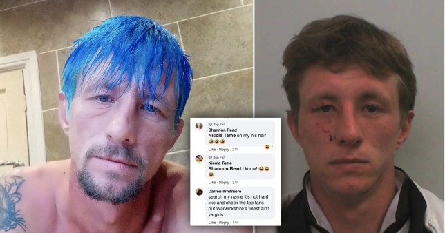 Darren Whitmore blue hair