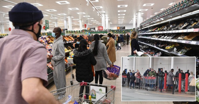 Supermarkets told to limit customers over fears lockdown rules being broken