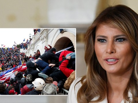 Melania Trump condemns violence at Capitol riots incited by her husband