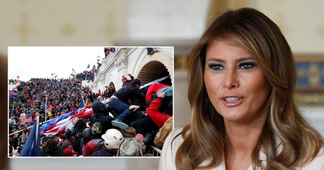 Melania Trump says 'violence is never acceptable' as she condemns Capitol riot