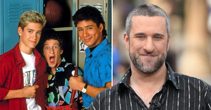 Dustin Diamond and pictured as Screech in Saved By The Bell