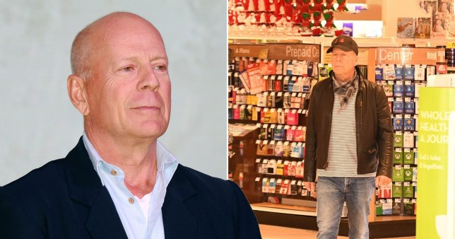 Bruce Willis without face mask