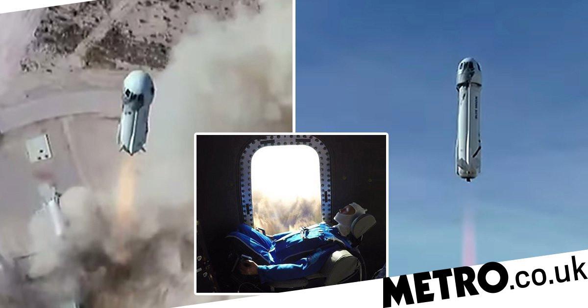 Blue Origin test flight launched 'Mannequin Skywalker' 66 miles into the air