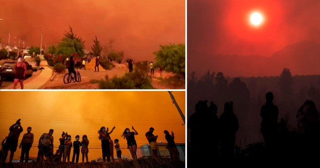 Les incendies rendent le ciel rouge au Chili