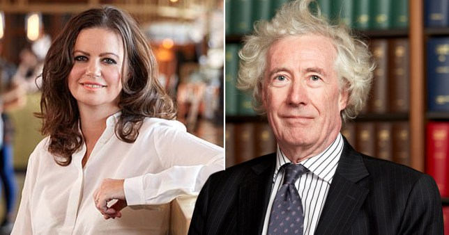 BBC podcaster Deborah James and Lord Jonathan Sumption. Lord Sumption told Deborah James her life mattered 'less' because she has stage four bowel cancer.