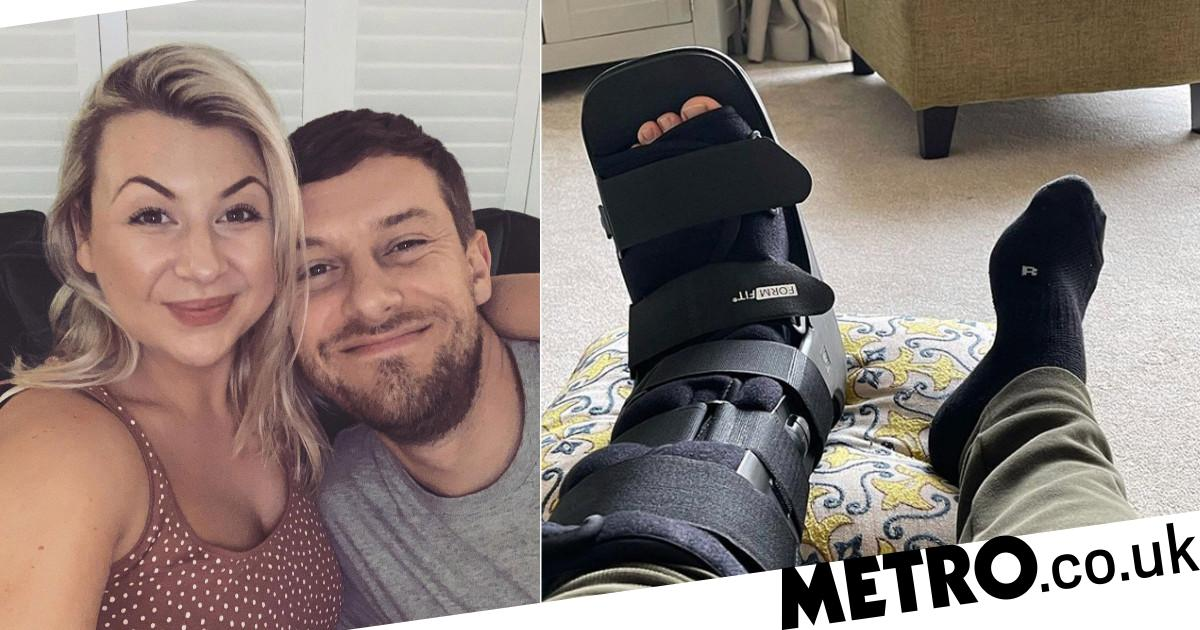 Chris Ramsey breaks ankle days after wife Rosie welcomes second baby - Metro.co.uk