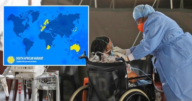 Une femme est traitée pour un coronavirus en Afrique du Sud