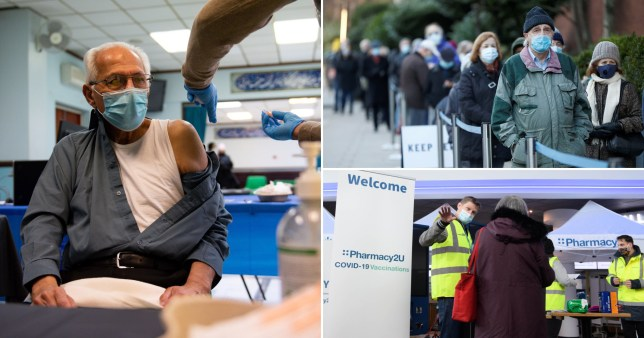Another 32 vaccine sites to open across England on Monday