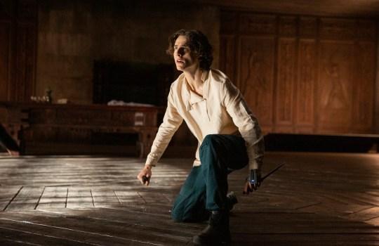 TIMOTHEE CHALAMET as Paul Atreides in Warner Bros. Dune