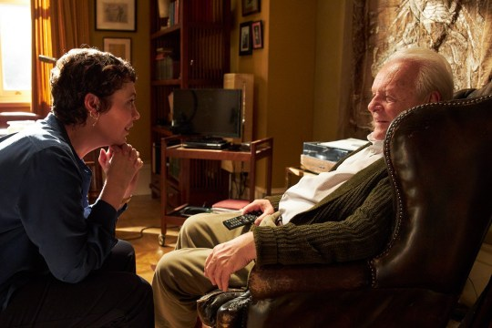 The Father OLIVIA COLMAN (l) and ANTHONY HOPKINS (r)