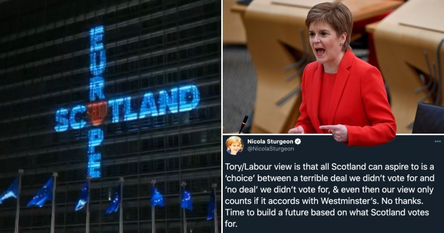 Nicola Sturgeon tells EU to 'keep the light on' and says 'we'll be back soon'