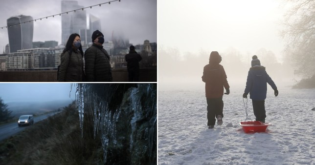 Frosts, showers and freezing fog to usher in 2021