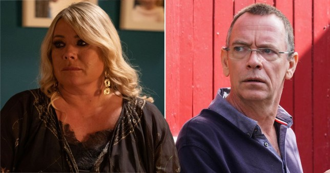 Sharon Mitchell and Ian Beale in Eastenders