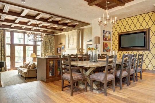 dining area in calgary mansion