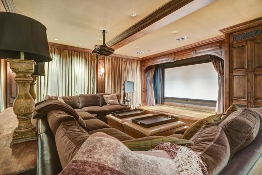 home cinema in calgary mansion