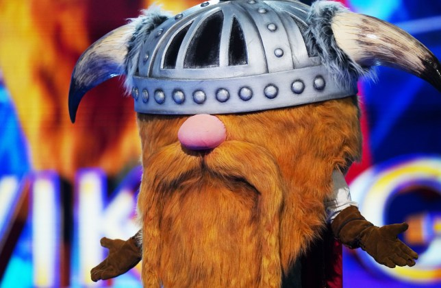 This image and the information contained herein is strictly embargoed until 00.01 Friday 1st January 2021 From Bandicoot TV The Masked Singer: SR2: Ep2 on ITV Pictured: Viking. This photograph is (C) Bandicoot TV and can only be reproduced for editorial purposes directly in connection with the programme or event mentioned above, or ITV plc. Once made available by ITV plc Picture Desk, this photograph can be reproduced once only up until the transmission [TX] date and no reproduction fee will be charged. Any subsequent usage may incur a fee. This photograph must not be manipulated [excluding basic cropping] in a manner which alters the visual appearance of the person photographed deemed detrimental or inappropriate by ITV plc Picture Desk. This photograph must not be syndicated to any other company, publication or website, or permanently archived, without the express written permission of ITV Picture Desk. Full Terms and conditions are available on the website www.itv.com/presscentre/itvpictures/terms For further information please contact: james.hilder@itv.com / 0207 157 3052