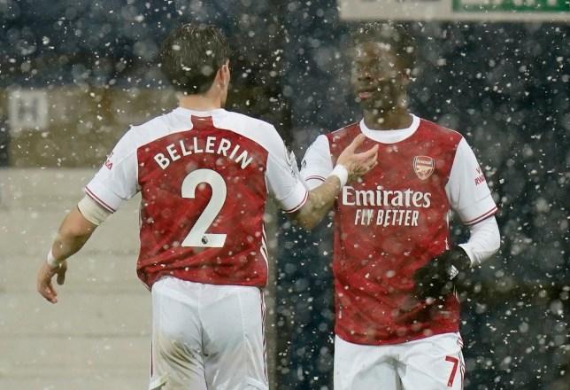 Bukayo Saka scored Arsenal's second goal against West Brom