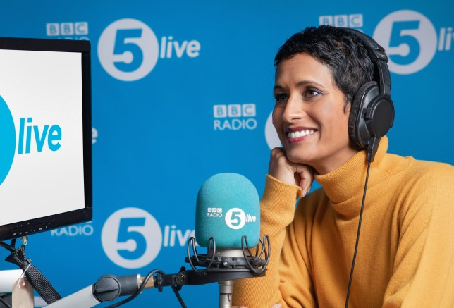 Naga Munchetty 'completely delighted' with Radio 5 Dwell internet hosting debut