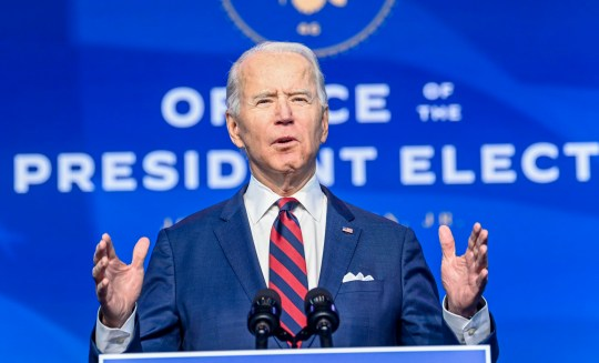 WILMINGTON, DE - DECEMBER 19: President-elect Joe Biden and Vice President-elect Kamala Harris President-elect Joe Biden on Saturday introduced members of his climate and energy teams at the Queen Theater.