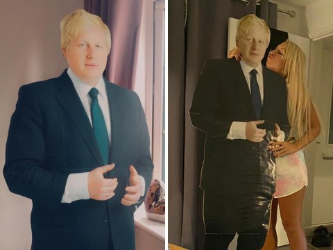 Mum wakes up to discover she's ordered a cardboard cutout of Boris Johnson after drinking too many wines