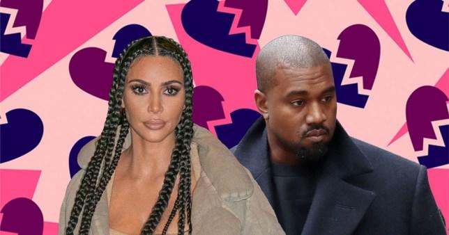 Kim Kardashian and Kanye West comp