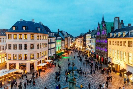 Copenhagen, shopping street