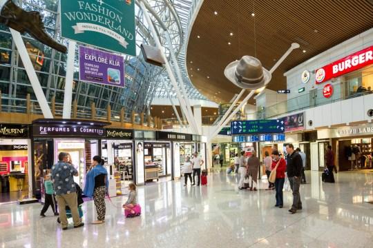 E73PMX Shopping duty free in Kuala Lumpur airport, Malaysia