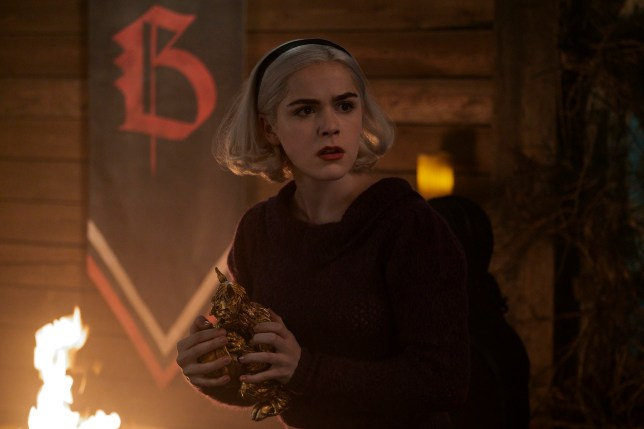Kiernan Shipka as Sabrina on Netflix's Chilling Adventures Of Sabrina