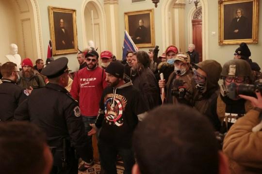protestors in the us capitol