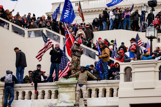 Pro-Trump supporters storm the U.S. Capitol following a rally with President Donald Trump