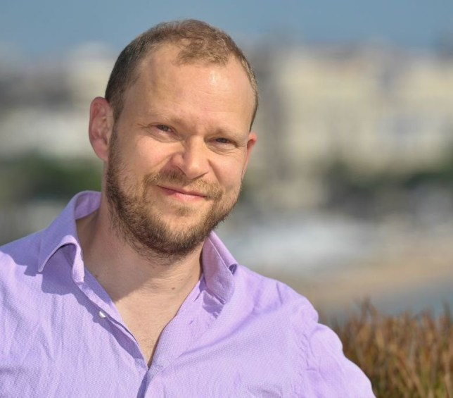 English actor Robert Webb poses during the MIPCOM trade show (standing for International Market of Communications Programmes) in Cannes, southern France, on October 17, 2017. / AFP PHOTO / YANN COATSALIOU (Photo credit should read YANN COATSALIOU/AFP via Getty Images)