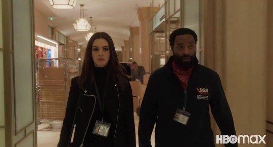 Anne Hathaway and Chiwetel Ejiofor star in Harrods in HBO Max film Locked Down